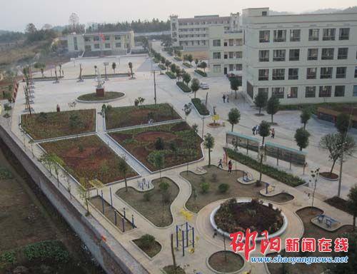 邵阳县岩口铺镇中学校园文化建设获市好评图片