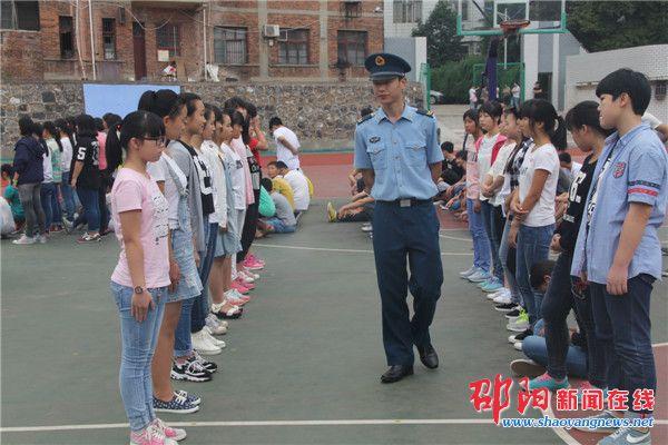 邵东十中举行高一新生军训 - 邵阳新闻在线