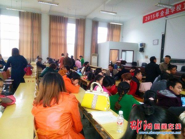 邵阳市北塔区状元中学考察隆回县万和实验学校