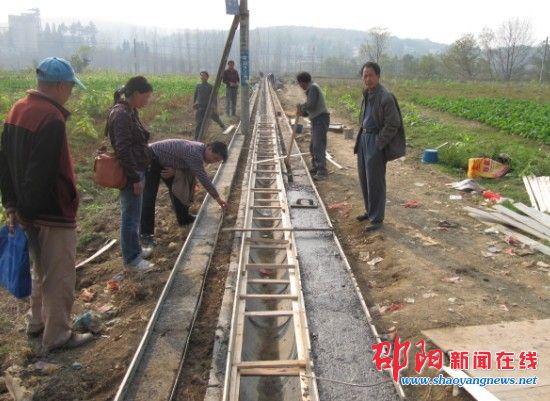 县农综办打造 山区模式 土地治理项目